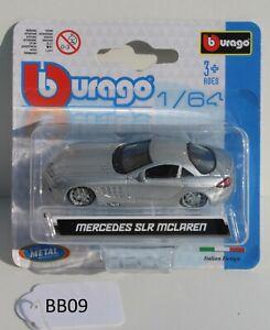 Bburago 1:64 Mercedes SLR Mclaren Grey 18-59007 FNQHotwheels BB09