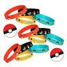 4Pcs Lots Pokemon Go Pikach Chic Silicone Wristband Bracelet Bangle Party Gifts