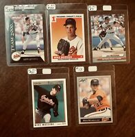 Mike Mussina Rookie Lot - 5 Mint cards Baltimore Orioles- HOF