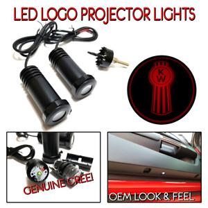 Lumenz C3 LED Logo Courtesy Door Lights Ghost Shadow Kenworth KW 100649 Red
