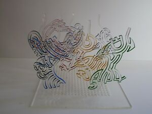 AVRAHAM INLENDER ACRYLIC SCULPTURE 1970'S ABSTRACT EXPRESSIONISM EXPRESSIONISM