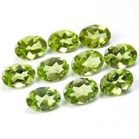 Wholesale Lot of 7x5mm Oval Facet Cut Natural Peridot Loose Calibrated Gemstone
