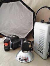 Kit Flash Norman 400B Super battery no Profoto no Godox no Bowens 400 joules