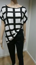 Womens Boohoo  Allie Grid Check Black and White Oversized Top. Size 12 BNWT
