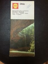 Vintage Shell Ohio Road Map
