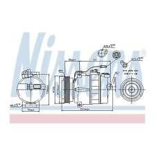 Fits Skoda Superb 3U4 2.8 V6 Genuine OE Quality Nissens A/C Air Con Compressor