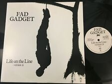 "FAD GADGET LIFE ON THE LINE UK 12"" BY MUTE RECORDS ANTON CORBIJN SLEEVE RARE !!!"