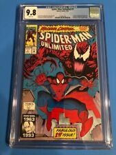 Spider-Man Unlimited #1 CGC 9.8 White Pages! 1st Appearance of Shriek!