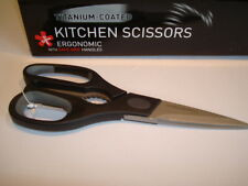 Grunwerg Titanium General Purpose  Kitchen HouseHold Scissors Heavy Duty Black