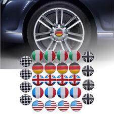 4x 56mm 3D Alloy Car Wheel Center Hub Cap Badge Flag Emblem Sticker