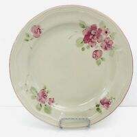 "Set of 3 10"" Gibson Roseland Stoneware Dinner Plates"