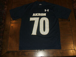Akron Zips #70 Under Armour Heat Gear Adult Small S Jersey Shirt Dark Blue NM