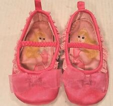 Disney Store PINK Satin Princess Slip-On Ballet Slippers Toddler Girl 18-24 Mos
