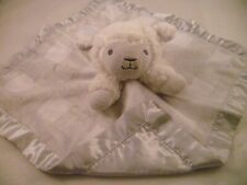TARGET CLOUD ISLAND LAMB SHEEP WHITE GRAY SHERPA SECURITY BLANKET LOVEY SATIN