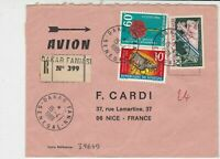 Rep Du Senegal 1969 Regd Airmail Dakar Cancels Multiple Stamps Cover Ref 32538