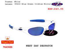 b530bc2d0ed j9 RayZor Uv400 White Frame Blue Mirrored Lens Sailing Wrap Sunglasses  RRP£49