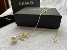 Chanel CC Necklace  Pearl Crystal PEARL Pendant Necklace