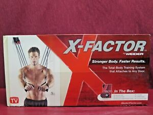 Weider X-Factor Door Gym Exercise Fitness Full Body Training Workout WXF09 DVDs