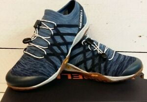 Ladies Merrell Trail Glove4 Knit Slip On / Lace Blue Trainers