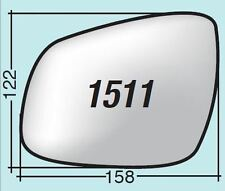 Vetro specchietto Chevrolet destro termico cromato curvo + piattello 1511DPR