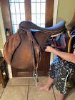 Vintage English Riding Saddle with Stirrups Leather