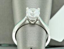 1 Ct Diamond Wedding Bridal Set 14K White Gold Round Cut Engagement Ring 4.5