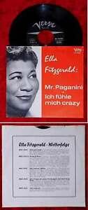 Single Ella Fitzgerald: Mr. Paganini / Ich fühle mich crazy (Verve 90012) D