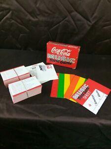 Vintage Coca Cola Music Trivia Quiz Party Game Unused 1987