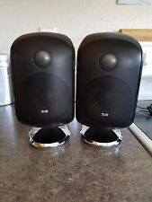 "*MINT* BOWERS WILKINS M-1 2 SATELLITE BLACK SPEAKERS SURROUNDS 4"" WOOFER"