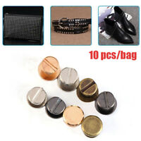 10set Metal Double Flat Head Leather Screw Nail Rivet For Belt Luggage Useful z