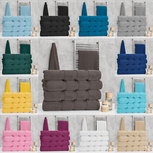 Luxury 100% Egyptian Cotton 2 or 4 Pack Bath Towel Set Bale Towels Bathroom Soft
