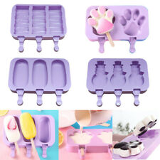 Frozen Ice Cream DIY Pop Mold Popsicle Maker Lolly Mould +Stick Silicone Summer!
