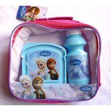 DISNEY FROZEN 3 PIECE LUNCH BAG SET WITH BOTTLE & CONTAINER SCHOOL