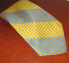 Vintage Shalom Made in Israel Tie - yellow/blue