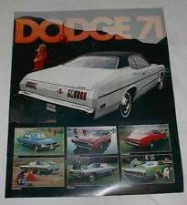 NOS OEM 1971 Dodge New Car Sales Brochure Demon Plum Crazy Challenger R/T !!!