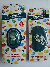 1 X Jelly Belly Car Air Vent Clip Freshener + 1 X 3D Jelly Belly BLUEBERRY