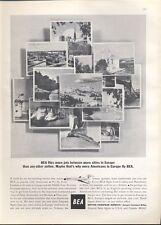 1965 British European Airways BEA Various Locations in Europe PRINT AD