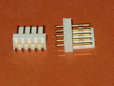 5 WAY GOLD 2.54mm PITCH PCB HEADER  MOLEX CONNECTOR  QTY = 2
