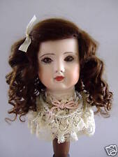 PERRUQUE MOHAIR pour POUPEE ancienne -DOLL WIG -T4 (24cm) Made in France
