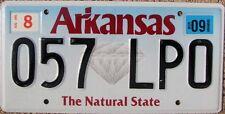 ARKANSAS Diamond Blue Fade License Plate - Random Letters - AR