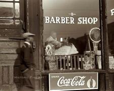 BARBER SHOP PHOTO VINTAGE HAIRCUT CLIP TRIM SHAVE SOUTH SIDE CHICAGO 1941 #20133