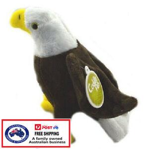 1 X PLUSH BALD EAGLE 18CM teddy kids gift bird soft stuffed animal doll christma