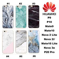 HUAWEI Marble Nova 3e 3i 2i lite Mate P 30 Pro 20 10 9 Y7 TPU Phone Case Cover