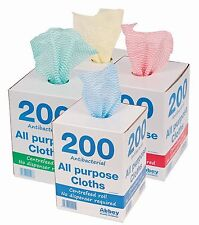 200 CLOTHS ON A ROLL WITH DISPENSER - VARIOUS COLOURS - PACK OF 2 - 9.74 EACH