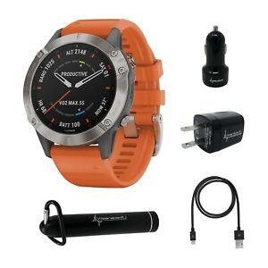 Garmin Fenix 6 GPS Watch w/ Wearable4U Pack / Standard, PRO or Sapphire Edition