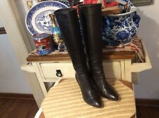 Via Spiga Women's Boots sz 7.5 Brown Leather Lined Leather heel Tall boots