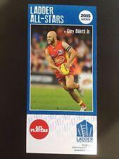 2015 Ladder AFL All Star Card Gary Ablett Gold Coast Suns Geelong
