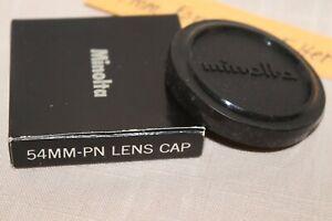 NEW Orig MINOLTA 54mm FRONT LENS CAP Slip-on Plastic, Minolta Lens cap f/52mm