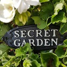 SECRET GARDEN CHIC N SHABBY CAST IRON WALL PLAQUE FAIRY GARDEN OR HOME