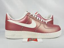 Nike Air Force 1 AF1 Low TRACK RED METALLIC SUMMIT WHITE 823511-600 sz 9